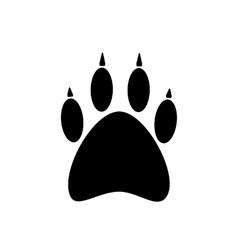 black paw icon isolated on white background vector image
