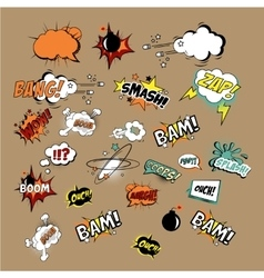 Comics Sound Effects and Explosions vector image vector image