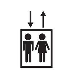 elevator icon on white background elevator sign vector image