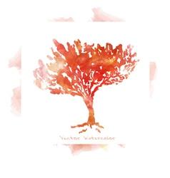 imitation watercolors - autumn trees vector image vector image