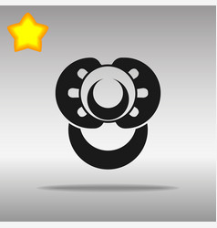 nipple black icon button logo symbol vector image vector image