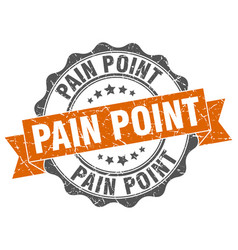 pain point stamp sign seal vector image