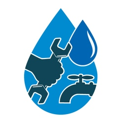 Repair plumbing and water supply systems vector image