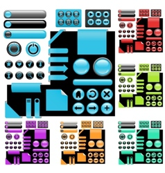 website elements vector image