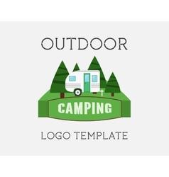 Adventure Outdoor Tourism Travel Logo Vintage vector image