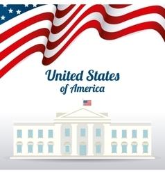 United states patriotism design vector image vector image