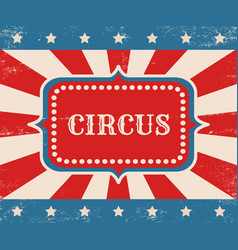 vintage poster for circus vector image