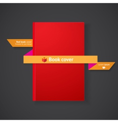 Book cover with ribbon vector image
