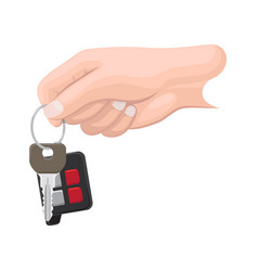 car key in human hand flat vector image vector image