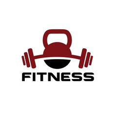 kettlebell and barbell design template vector image vector image