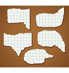 Paper speech bubbles set vector image vector image
