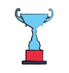 Trophy cup championship icon vector