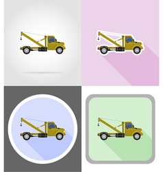 truck flat icons 10 vector image vector image
