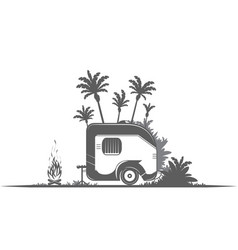 vintage camping trailer vector image