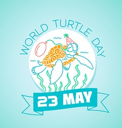 23 may World Turtle Day vector image vector image