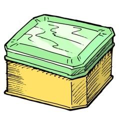 Box for tea vector image vector image