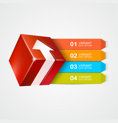 box with arrow infographics concept vector image vector image