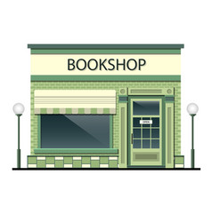facade of the building with bookshop vector image vector image