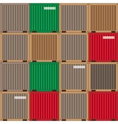 industrial patchwork pattern vector image vector image