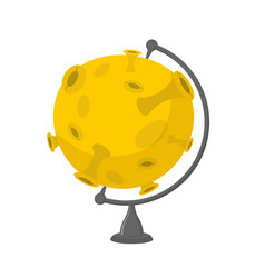 moon school globe planet geographical sphere vector image