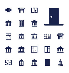 22 architectural icons vector
