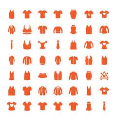 49 shirt icons vector image