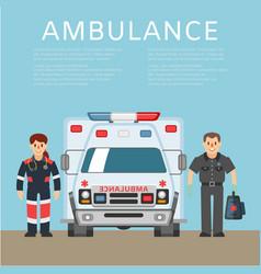 ambulance background information emergency vector image