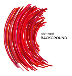 Background with red colorful curved lines vector