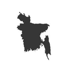 bangladesh map silhouette vector image