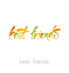 Best friends lettering vector