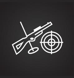 biathlon thin line on black background vector image