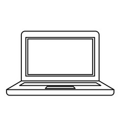 Black silhouette of laptop computer vector