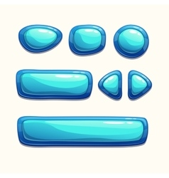 Blue buttons set vector