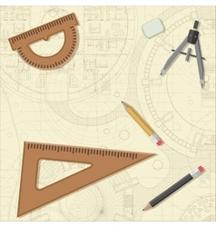 Blueprint with equipment vector image