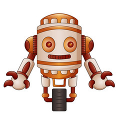 Brown robot cartoon isolated on white background vector