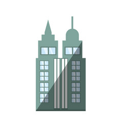 building skyscraper city shadow vector image