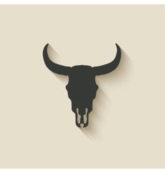 Bull skull icon vector