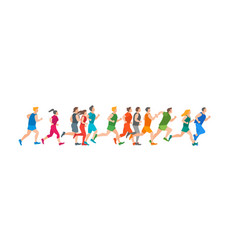 cartoon jogging characters people vector image