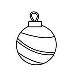 christmas ball ornament decoration element vector image