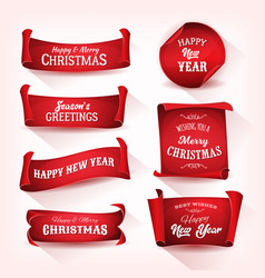christmas parchment scroll collection vector image