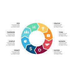 circle arrows infographic cycle diagram vector image