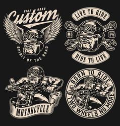 Custom motorcycle vintage prints vector