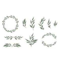 Designer elements set collection of greeng vector