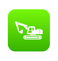 digging machine icon simple style vector image