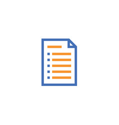 document paper outline icon isolated note paper vector image