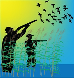 Duck hunters vector