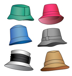 Fashion hats vector