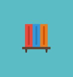 Flat icon bookshelf element vector