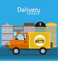 Food delivery service vector