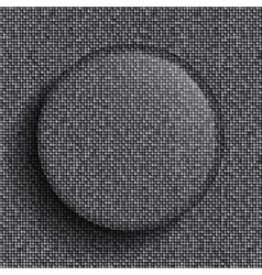 glass circle on silver sequins background vector image
